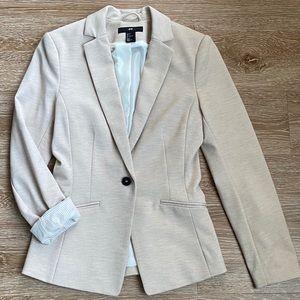 H&M Fitted Cream Blazer